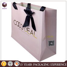 custom bow tie shopping/gift paper bag craft paper bag