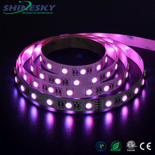 IP65 silicone waterproof RGB+WW SMD5050 12/24V 60leds/M swimming pool led strip lighting long Working Lifetime