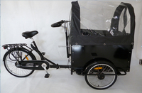 "20"" steel folding frame tricycle with front cargo"