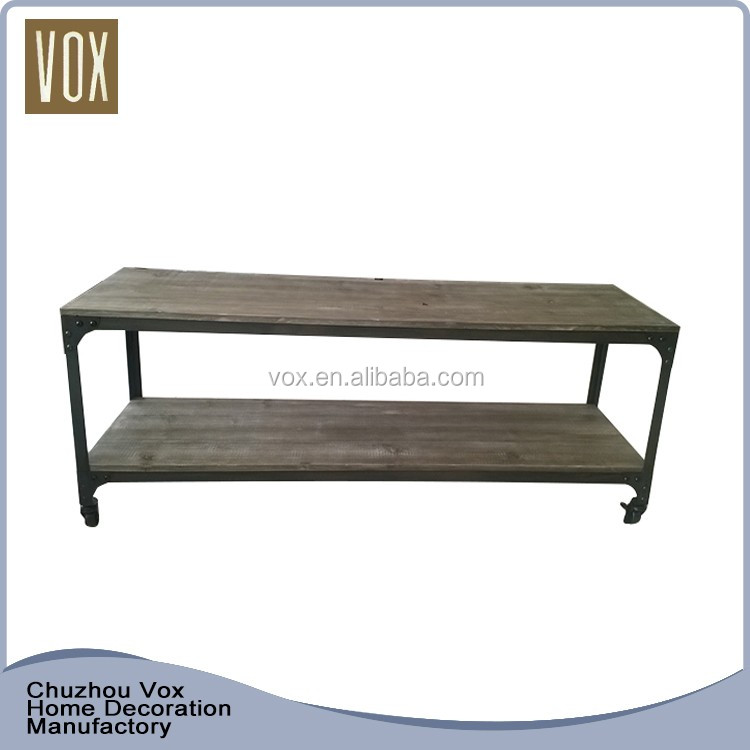 custom made Rustic style rectangular wooden turkish tv stand furniture