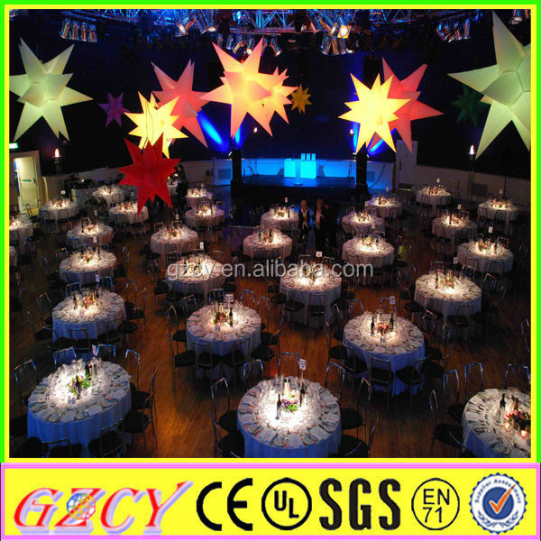 Wedding Decoration LED Light Inflatable LED Star