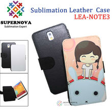 For samsung galaxy note 3 Sublimation leather case