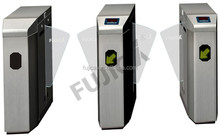 access control system glass door High speed automatic full height flap turnstile / security speed gate