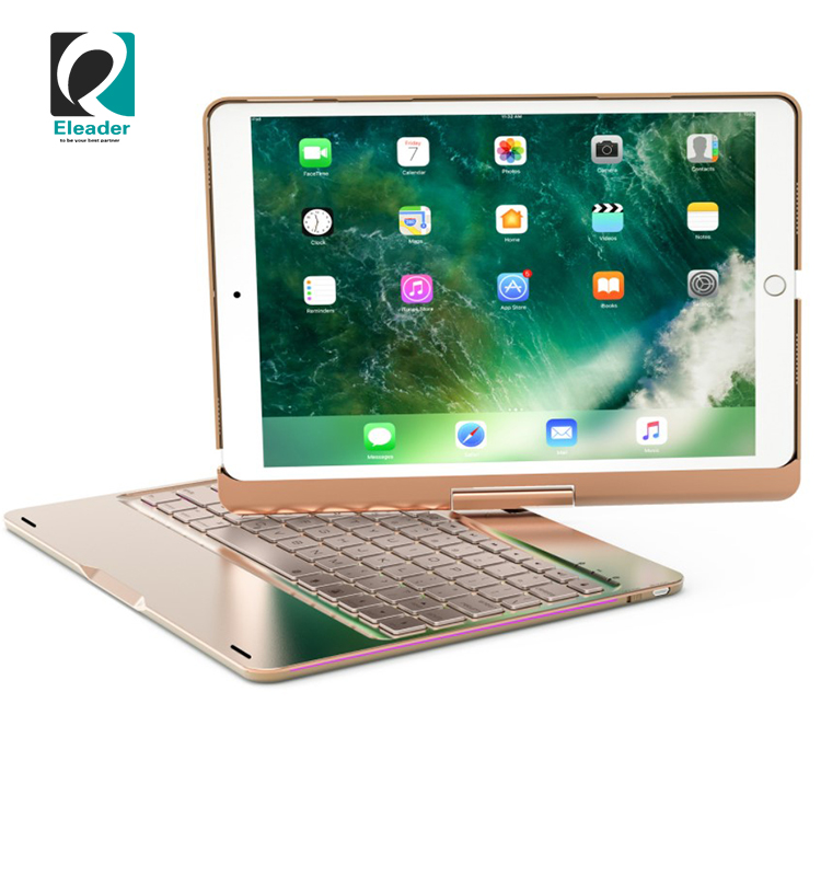Keyboard for ipad 10.5 blueteeth keyboard case cover aluminum 360 rotating