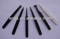 Different types cleanroom black esd replaceable tweezers