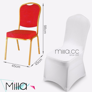 Lower than $1 dollar White Universal Spandex Chair Cover