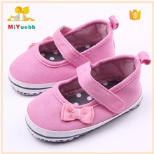 Solid Cotton Bow-knot Spanish Baby Shoes Girls