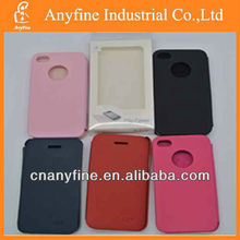 For iphone4/4s colorful flip cover leather case,PU flip case for iphone4
