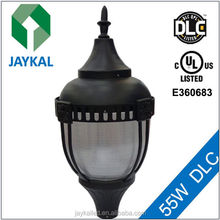 post top accorn fixtures UL, dlc led pole mount light for Garden / street