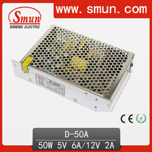50W Dual Output 5V 12V DC Power Supply D-50A