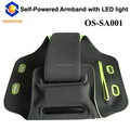 No battery led running armband for mobile phone