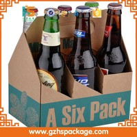 high quality 2/4/6 pack bottles corrugated cardboard wine carton boxes with handles