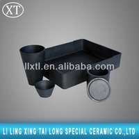 Ceramic graphite crucible with Lid