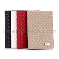 Woven Texture Pattern Flip Stand PC+PU Leather Case for iPad Mini/2/3 Retina