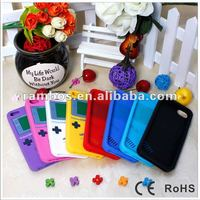 Colorful protective silicone back soft game player cover case for Apple IPhone 5