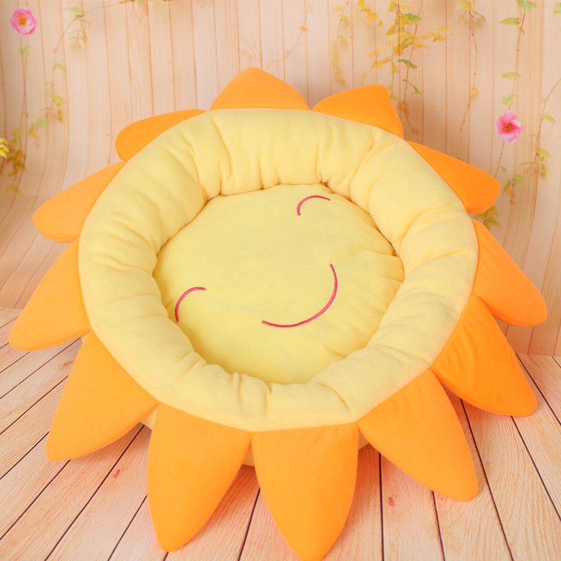 2015 new winter warm pet nest doghouse sunflowers factory direct Teddy kennel
