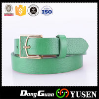 High Quality Durable Green Genuine Leather Belts Women