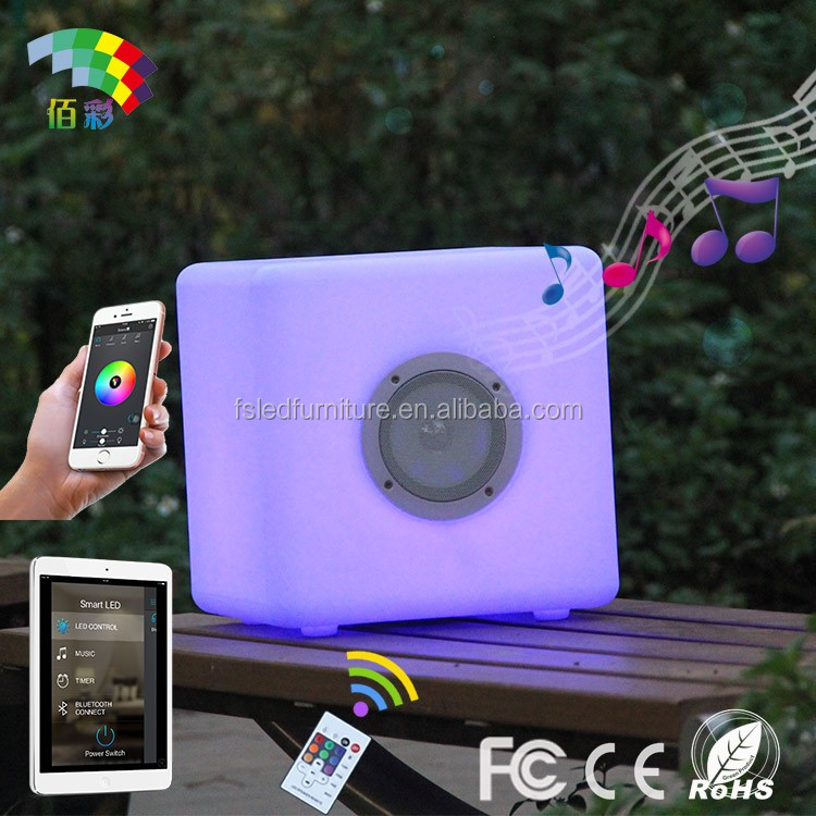 Smart mini RGB color led cube speaker with bluetooth