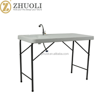 New Structure Stable outdoor furniture plastic folding tables wholesale