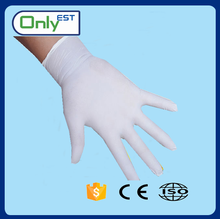 Powder free safety cheap non sterile disposable white nitrile gloves