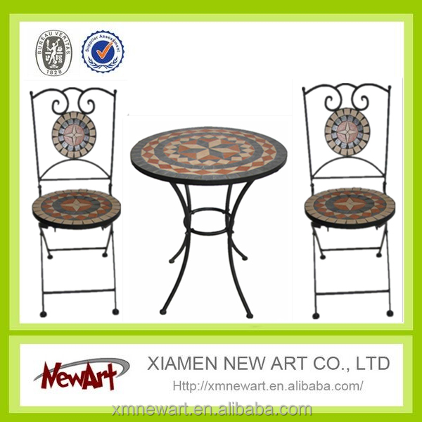 garden table mosaic metal table and chair outdoor funiture table