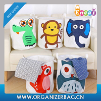 Encai Household Folding Laundry Bin Cheap Cartoon Style Laundry Basket