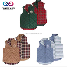 Wholesale Monogrammed Women's Double Wear Quilted Vest