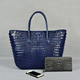 Handmade chic Crocodile lady large tote bags leather handbags wholesale