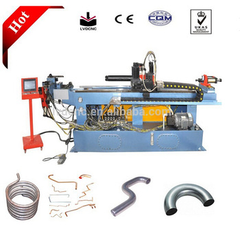 Automatic pipe bender machine tool with multiple stacks molds and pushing bend function for big radius