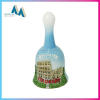 Hot sale products custom ceramic souvenir dinner bell