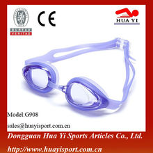 Waterworld cool blue waterproof silicone swimming glasses