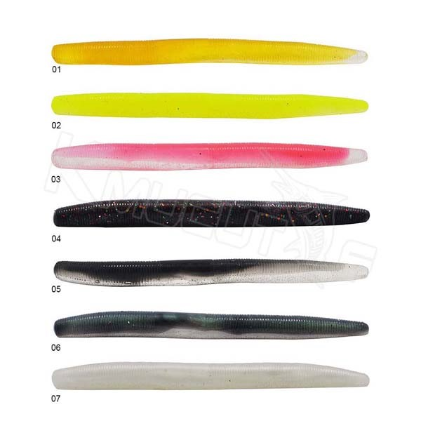 11cm muti color soft worm senkos soft bait fishing tackle