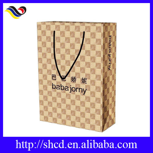 2016 Top fashion and high Quality Custom Craft Paper Bag for shopping