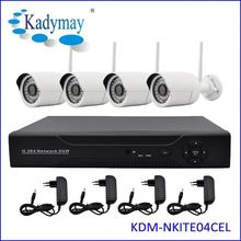 Complete 4CH 720P Night Vision RoHS cctv camera system wireless