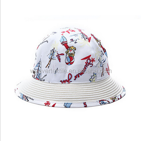 Custom Free Pattern Bucket Hat Printed Bucket Hats Image Style for Children/Baby