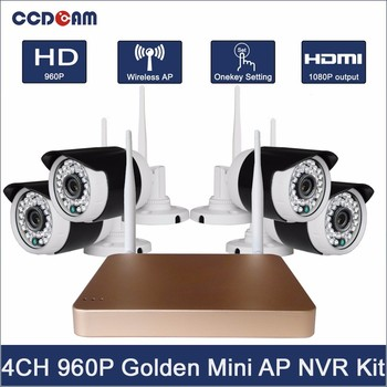 H.264 1.3MP 960P 4CH WiFi NVR Mini KIT with Waterproof Security camera