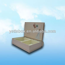 Printing metal book shape can box for cosmetic storage