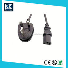 uk 3 pin plug wire BS1363A United Kingdom mains power lead