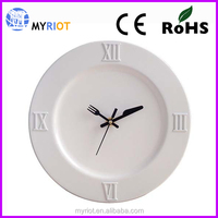 Plastic ps fork and knife kitchen cheap promotion clock
