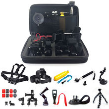 Best selling Gopros accessories set for Gopros/sjcam/Xiaomi yi camera, Gopros accessories kits include 24pcs kits, Gopros kits