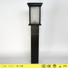2017 Wholesale die cast body garden lamp post 1636 outdoor lighting park lam post bollard lamps