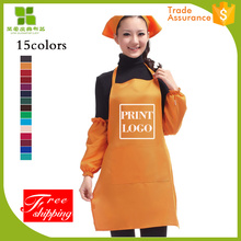 factory hot sales plain aprons decorate with good quality