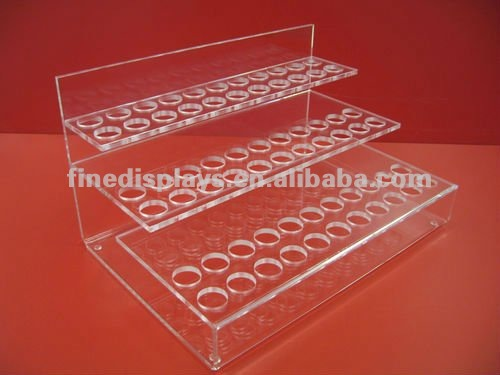 Countertop 3 Tier Clear Acrylic Lipstick Display Organizer (CD-F-0101)