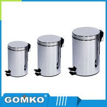 Round-shape kitchen stainless steel recycling bins