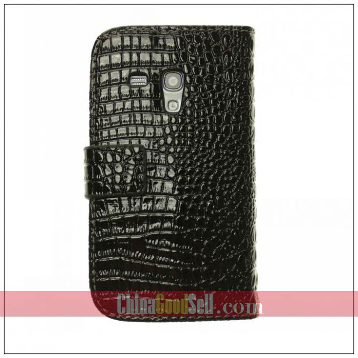 Croco leather wallet case for Samsung galaxy s3 mini i8190