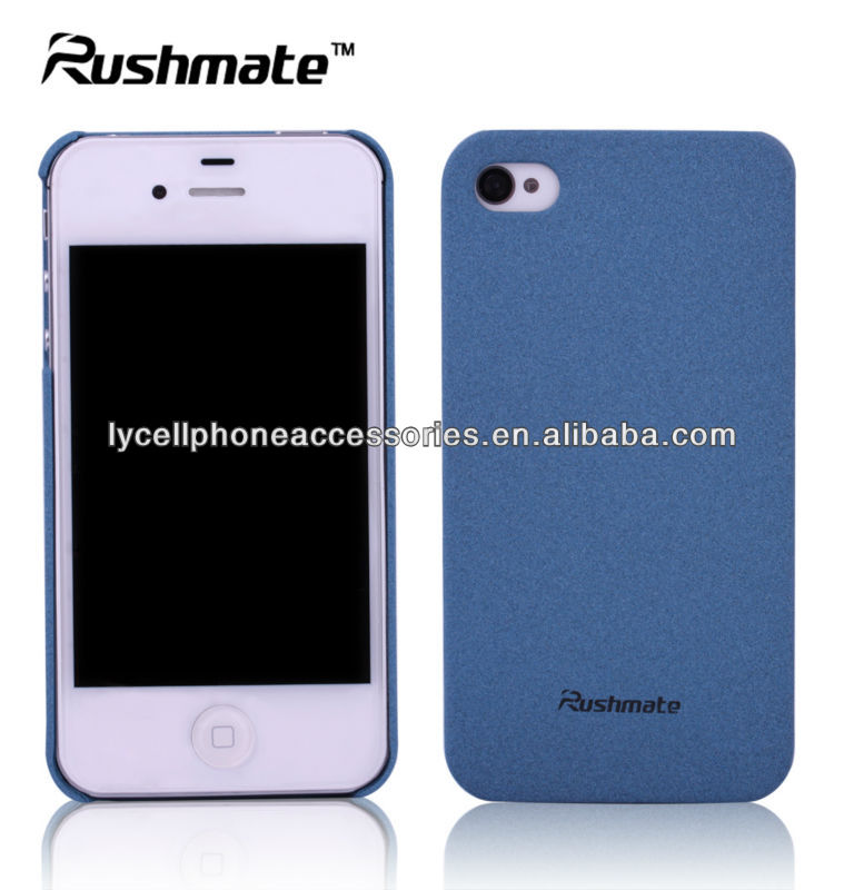 Blue Matte Quicksand Hard Mobile Phone Back Cover Case for Apple iphone4G 4S