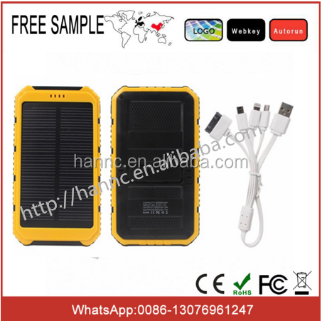 Mobile phon used , Solar portable power pack 10000mah / portable charger solar