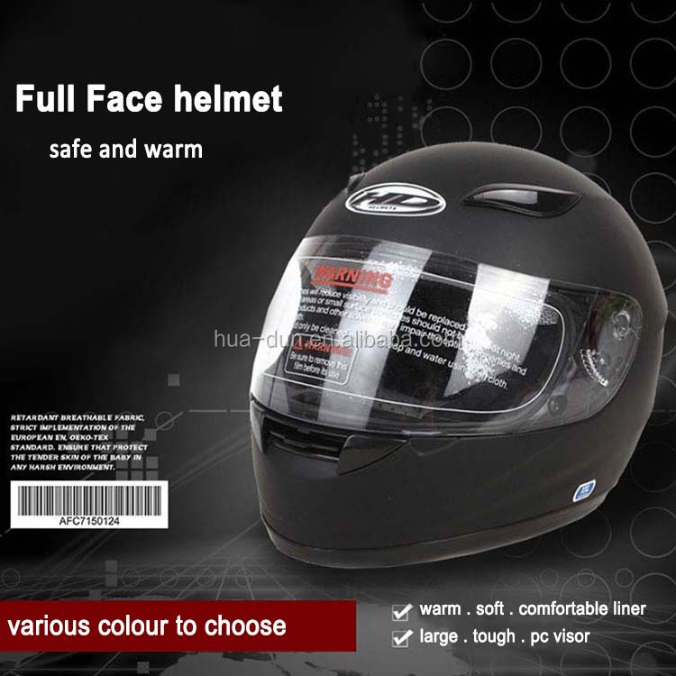 ABS material good quality full face helmet with reflective visor