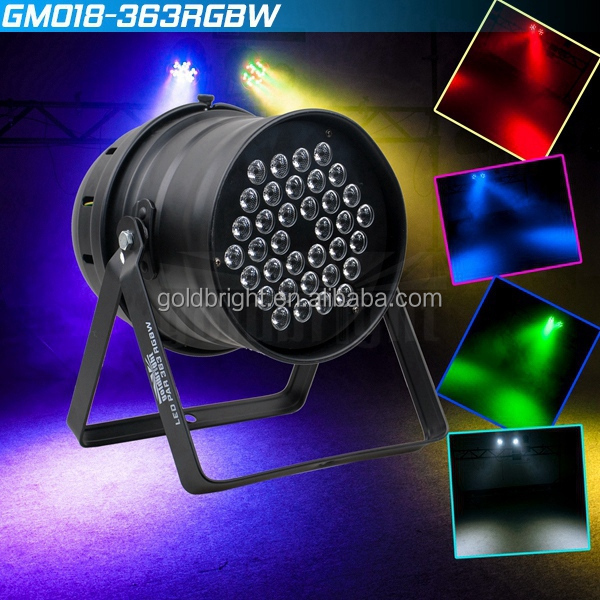 36x3W RGBW Par 64 leds led par bulb light dmx512 stage lighting for DJ KTV