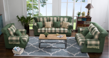 sectional idyllic mediterranean detachable and movable lattice fabric solo sofa